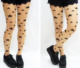 Stars Tattoo Tights/ Pantyhose